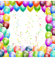 balloons frame vector image vector image