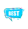 best speech bubble with expression text vector image vector image