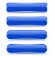 blue glass buttons set of long rectangular web vector image