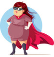 body ppositivity superhero beautiful cartoon woman vector image vector image
