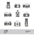 camera icons2 vector image