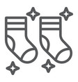 clean socks line icon laundry and wardrobe tidy vector image vector image