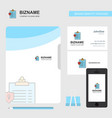 clipboard business logo file cover visiting card vector image vector image