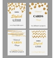 Collection of Universal Modern Stylish Cards vector image vector image