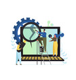 computer repair service flat style design vector image