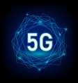 concept 5g with network on dark background vector image vector image