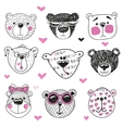 Cute Bears series vector image vector image