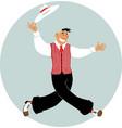 dancing vintage guy vector image vector image