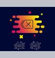 delete line icon remove sign vector image vector image