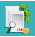Document and money icon Tax and Financial item vector image vector image