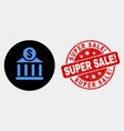 dollar bank office icon and scratched super vector image vector image