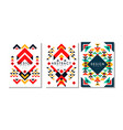 ethnic style cards set colorful flyer brochure vector image vector image