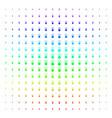 fireworks detonator icon halftone spectrum effect vector image