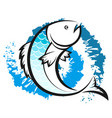 fish and water circles vector image