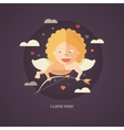 flat design valentines day card vector image vector image