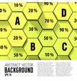 geometric infographic template vector image vector image