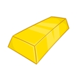Gold ingot icon in cartoon style vector image vector image