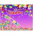 Greeting card - happy Birthday vector image vector image