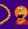 guru gobind singh jayanti vector image