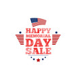 happy memorial day sale banner national american vector image