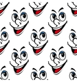 Happy smiling face seamless background pattern vector image vector image