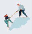 help and support concept man and woman on white vector image