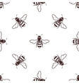 Honeybees seamless light pattern vector image
