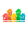 house and related work tool icons vector image vector image