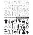 icons of fashion and beauty vector image vector image
