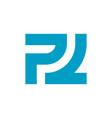 initial letter pl logo design template elements vector image vector image