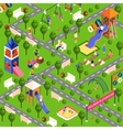 Isometric playground vector image vector image