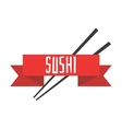 Japanese sushi menu template vector image vector image