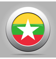 metal button with flag of Myanmar Burma vector image vector image
