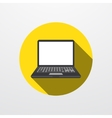 modern laptop icon on gray vector image