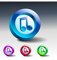 multimedia musical note icon button vector image
