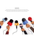 News Banner Template Set of Microphone vector image