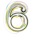 Organic Font number 6 vector image vector image