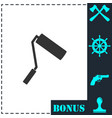 paint roller icon flat vector image