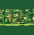 path through forest vector image vector image