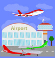 planes with international airport vector image vector image