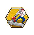 Plumber worker vector | Price: 1 Credit (USD $1)