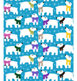 Polar bears on blue background vector image vector image