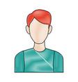portrait man avatar people male cartoon vector image vector image