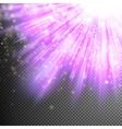 Purple luminous rays EPS 10 vector image vector image