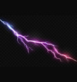 realistic lightning and glowing thunder bolt vector image