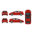 red car template vector image vector image