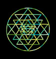 sacred geometry and alchemy symbol sri yantra vector image