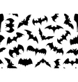 Seamless bats background vector image vector image