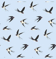 seamless birds pattern vector image vector image