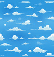 seamless clouds on blue sky background vector image vector image
